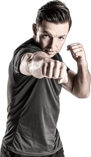 Danny Delvers in kickboks houding